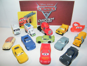 Disney Pixar Cars Movie 3 Deluxe Party Favours Goody Bag Fillers Set of 14 w/ 12 Plastic Cars, a ToyRing, Sticker Featuring Next-Gen Racers, Dr. Damage and Many New Characters!