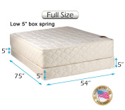 """Dream Solutions USA Grandeur Deluxe Full Size (140cm x 190cm x 12"""") Mattress and Low 13cm Height Box Spring Set - Fully Assembled, Good for your back, Luxury Height, Long Lasting and 2 Sided"""