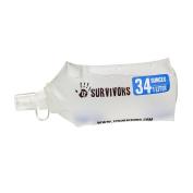 12 Survivors Collapsible Water 1L Bottle