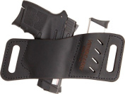 VERSACARRY Leather Mag Holder Double Stack W/ Flex Vent Black