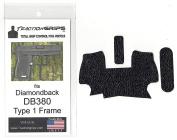 Tractiongrips rubber grip tape overlay for Diamondback DB380 Type 1 frame