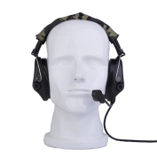 ATAIRSOFT Z-Tactical Z111 Sordin Style Noise Cancellation Ptt Wargame Hunting Headset Headphone for Military Radio