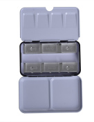 MEEDEN Empty Watercolour Tin Metal Box with 6 Transparent Full Pans