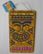 Tiki Time Hawaiian Wooden Party Sign