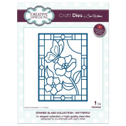 Sue Wilson Dies Stained Glass Collection ~ Butterfly Die, CED24002