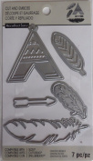 Recollections Cut & Emboss Dies TeePee Feathers Arrow