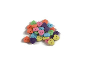 Pastel Assorted Heart Buttons - 36pc - 2 Hole Sewing
