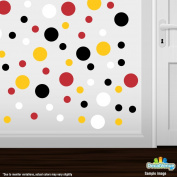 Set of 60 Circles Polka Dots Vinyl Wall Decals