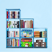 Cosway DIY Adjustable Home Furniture Bookcase Storage with 9 Book Shelves 15.8 x 30cm x 28cm ( L X H X W)
