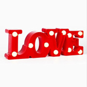 URToys Romantic Indoor Decorative 30cm Wide Wall Night Lamps 3D LOVE Marquee Letter LED Batteries Operated Night Light Illuminated Home Wedding Christmas Decoration Valentine's Day Gifts