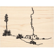 Adobe House Rubber Stamp