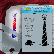 Inspired Journaling Lighthouse 6 x 9 Flexible Stencil