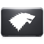 House Stark Wolf REMOVABLE Vinyl Decal Sticker For Laptop Tablet Helmet Windows Wall Decor Car Truck Motorcycle - Size (07 Inch / 18 Cm Wide) - Colour