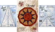 Bundle of Jewel Box Gem Five and Ten (5 & 10), and The Sundail Quilt Pattern