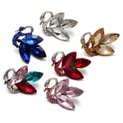 Soleebee 6 pcs Alloy Rhinestones Swan Snap Buttons Jewellery Charms diy Accessories