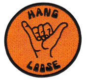 Vintage Style Surfer Hang Loose Shirt Patch 8cm - Badge - Patches - 70's - 80's - Surfing - Surf