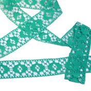 Antique DIY Net Rachel Crochet Lace Ribbon Trimming Bridal Wedding Prom Dress 35mm Wide M6492 (Green