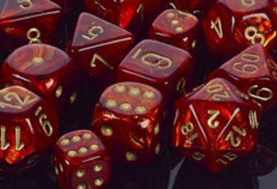 CHESSEX DC2004 - SCARAB 20MM W/PIPS SCARLET/GOLD D6