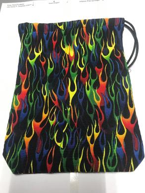 Multicolor Flame Cotton Dice Bag