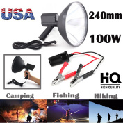 """100W HID 9""""Inch 240mm Handheld Lamp 1.5Km Light Distance for Camping Hunting Fishing Spotlight with Battery Conversion Clip – US Stock"""