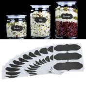 Coohole 36pcs Chalkboard Blackboard Chalk Board Stickers Decals Craft Kitchen Jar Labels, Black