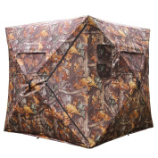 "AW 58x 58"" x 170cm Pro Hunting Blind Tent 300D Polyester Fibre w/ Carrying Case Outdoor Sport Shooting"