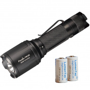 Fenix TK25 R & B 1000 Lumen Multi-Colour White Red & Blue LED Tactical Flashlight & 2x LumenTac CR123A Batteries