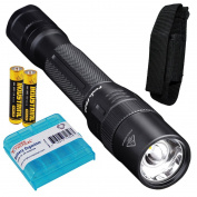 Fenix FD20 350 Lumen CREE XP-G2 S3 LED Focusable (Zoomable) Tactical & Utility AA Flashlight with 2x AA Batteries & LumenTac Battery Organiser
