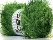Large 100 gramme Skein Jungle Grass Green Eyelash Yarn Ice Packer's Green Fun Fur 164 Yards 22741