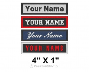 Custom Embroidered Name Tag Sew on Patch Motorcycle Biker 10cm x 2.5cm (B) Badge