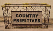 Country Primitives Wire Basket