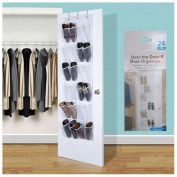 24 Pocket Over the Door Shoe Organiser Rack Hanging Storage Space Saver Hanger