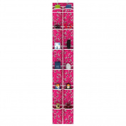 Olpchee Oxford Cloth Over the Door Shoe Organiser 12 Pockets Print Hanging Shoe Organiser Holder with 2 Steel Hooks
