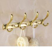 Continental row hook/Golden Hooks/Coat hook/Wall hanging/Bathroom Hook/Bathroom Wall/Wardrobe Hook-A