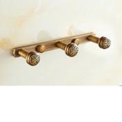 European-wide copper platoon hook/Antique Hook/Clothes hook/Wall coat hook/After the hook retro bathroom door-A