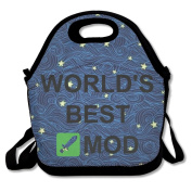 Black WORLD'S BEST MOD Lunch Bag For Man And Woman
