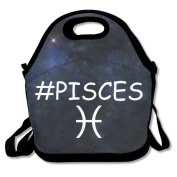 Black Pisces Logo Lunch Bags For Man And Woman