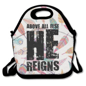 Black Above All Else He Reigns Lunch Bags For Man And Woman