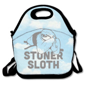 Black STONER SLOTH Lunch Bag For Man And Woman