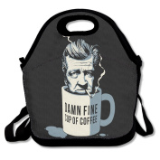 Black Damn Fine Cup Of Coffee Lunch Carry Bag For Man And Woman