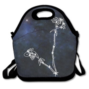 Black Pisces Lunch Bag For Man And Woman