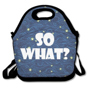 Black So What Lunch Tote Bag For Man And Woman