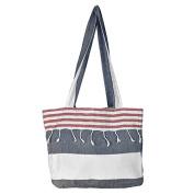 Birchwood Chaput's Boreas Style Turkish Beach Bag, Navy/Red