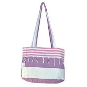 Birchwood Chaput's Boreas Style Turkish Beach Bag, Purple/Pink