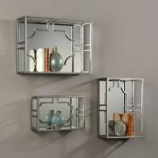 Adoria Silver Wall Shelves S/3