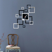 Sikye DIY Decorative Clock Acrylic 3D Mirror Wall Sticker Removable Fashion Gifts and Crafts