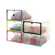 Shoe Storage,Foutou Foldable Stackable Clear Plastic Drawer Case Organiser Box Holder Shoe Storage