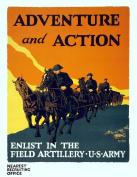 1919 U.S. Army Recruiting Poster Art Print 22cm x 28cm Reprint