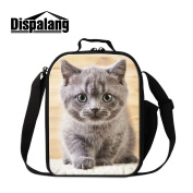 Dispalang Cute Cat Print Lunch Cooler Bags Animal Insulated Lunch Box Bags Work Lunch Container