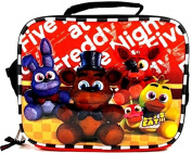 New 2017 Five Nights At Freddys Lunch Bag FNAF Snack Bag Bonnie Chica Foxie -Back Checker